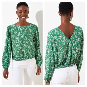 Loft Buttercup Wrapped Back Cropped Top